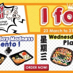 Monday madness: 1-for-1 Bento delivery @ Umisushi