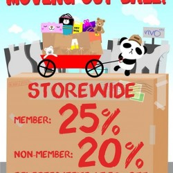 Artbox Vivo City outlet moving out sale