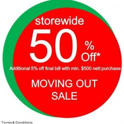 50% off Moving Out Sale @ Early Learning Centre Forum
