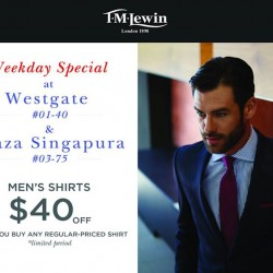 Weekday special $40 off shirts @ T.M.Lewin