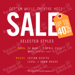 Enjoy up to 40% OFF selected styles @ FitFlop