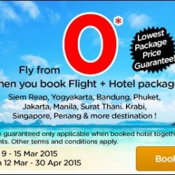 Fly from ZERO when book your flight + hotel together @ AirAsiaGo