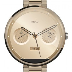 Motorola Mobility Moto 360 Androidwear Smartwatch for Android Devices 4.3 or Higher - Champagne Metal - 18mm