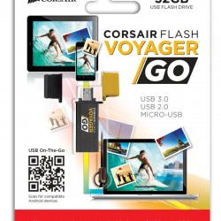 Corsair Flash Voyager GO 32GB USB3.0 micro USB OTG Flash Drive for Android devices CMFVG-32GB-NA @Amazon.com
