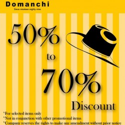 50% - 70% Off for Select Items @ Domanchi