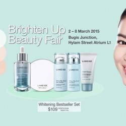 LANEIGE Brighten Up Beauty Fair at Bugis Junction