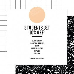 10% off student privilege @ F3 stores