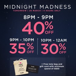 Up to 40% OFF Midnight Madness @ Luxola