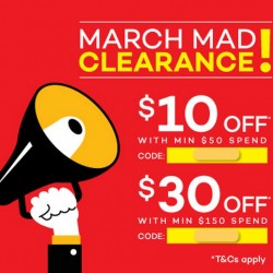 March Mad Clearance @ Lazada.sg