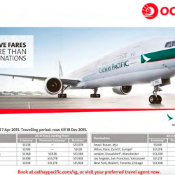 Cathay Pacific Airways Special promotion with OCBC cards