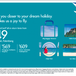 Exclusive MasterCard all-in return fares from $249 @ SilkAir