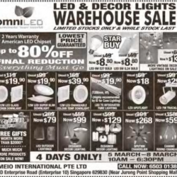 LED &  Decor lights warehouse sale @ OmniLED