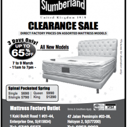 Clearance mattress sale @ Slumberland