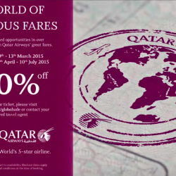 Up to 30% off sale @ Qatar Airways