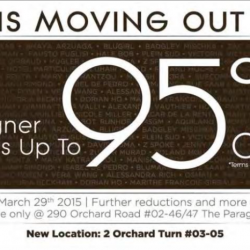 Moving out sale designers labels up to 95% off @ Pois