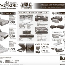Bedding & Linen special @ King Koil