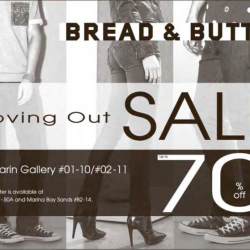 Moving out sale up to 70% off @ Bread & Butter