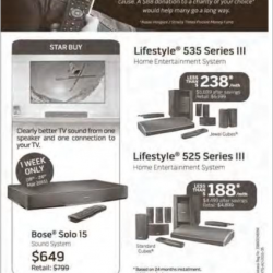 Get Paid to Upgrade home entertainment system promotion @ BOSE