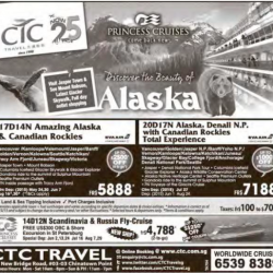 Discover the beauty of Alaska with Princess Cruise @ CTC Travel