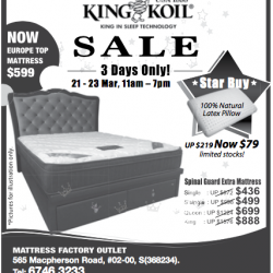 Mattress sale @ KingKoil
