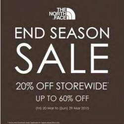 20% off storewide end season sale @ The North Face