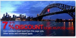 Up to 8% Off Hotels For DBS Cards @ Agoda.com