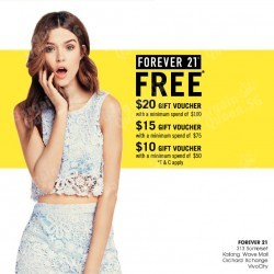 Gift Voucher with purchase @ Forever 21