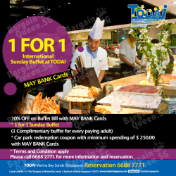 1-For-1 Sunday Buffet @ TODAI