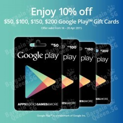10% off Google Play Gift Cards Promotion @ Cheers