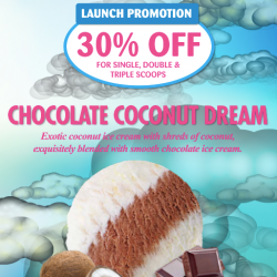 Chocolate Coconut Dream Launch Promotion 30% Off @ New Zealand Natural