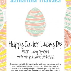 Happy Easter Lucky Dip with $388 spend @ Samantha Thavasa