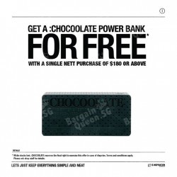 Free :CHOCOOLATE power bank with $180 spend @ i.t Labels