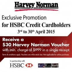 HSBC Credit Cardholder promotion @ Harvey Norman