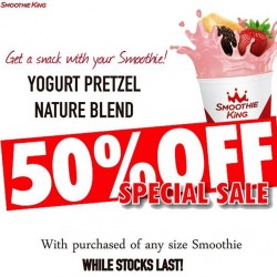 50% off Yogurt Pretzel @ Smoothie King