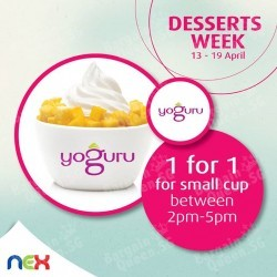 yoguru Desserts Week Offer @ NEX