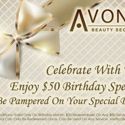 $50 Off Any One Service voucher @ AvonE Beauty