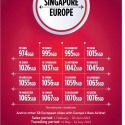 Singapore - Europe promotion @ Turkish Airlines