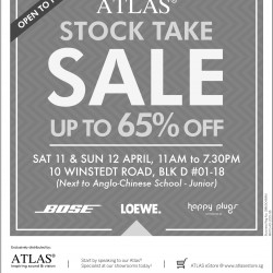 Stock take Sale up to 65% off @ ATLAS