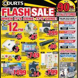 Flash sale up to 90% off @ Courts