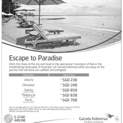 Escape to Paradise sale @ Garuda Indonesia