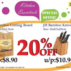 20% Off on Both Cutting Board & Knives @ Japan Home