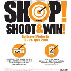 Shop! Shoot & Win! -Bullseye @ Velocity