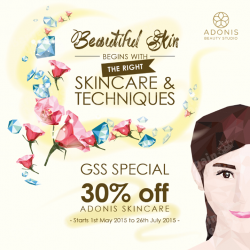 30% OFF Skincare GSS 2015 Deal @ Adonis Beauty