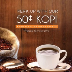 50c coffee promotion @ Food Junction at Funan Mall