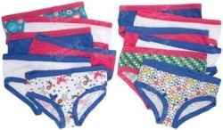 Fruit Of The Loom Big Girls' 12 Pack Cotton Hipsters @ Amazon