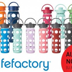 Assortment of Lifefactory bottles @ Running Lab