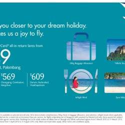 Flight Fare Promotion @ SilkAir
