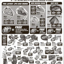 Up to 70% Off Mizuno Fair @ All Golf House Stores