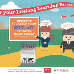 Invest in yourself: 20% Off Selected Wiley Titles @ MPH, POPULAR, Times