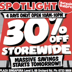 30% Off Storewide @ Spotlight
